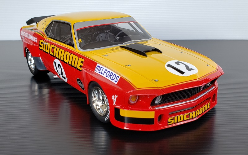 1/18 1969 Sidchrome Mustang #12 Jim Richards